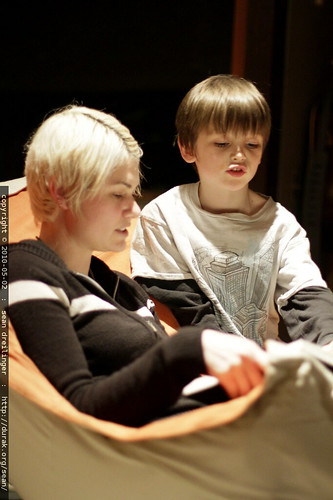 rachel reading ten shel silverstein poems to nick for bedtime