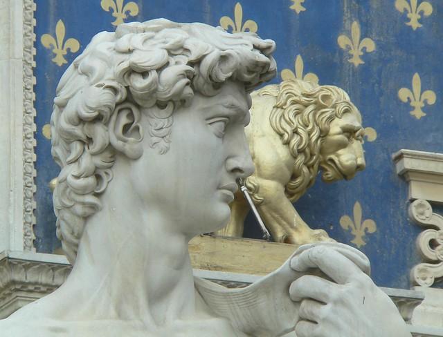 Firenze - Piazza della Signoria - David - particolare