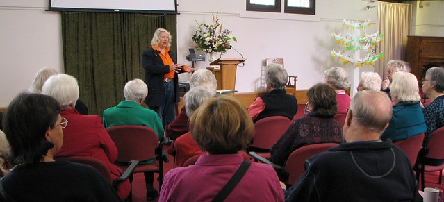 Maggy Ragless leads a Continuing Learning session on Blackwood's history at Blackwood Uniting Church
