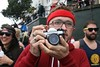 Running Photographer and his Pentax K1000 by taco_cat