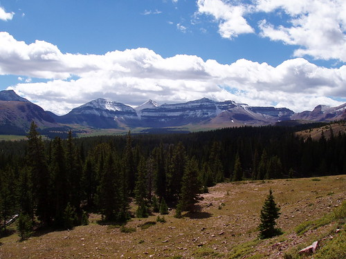 The main ridge of the Uintas, from Henry's Fork Basin.