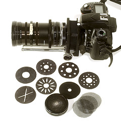 soft focus lens and aperture disks by johnnyoptic