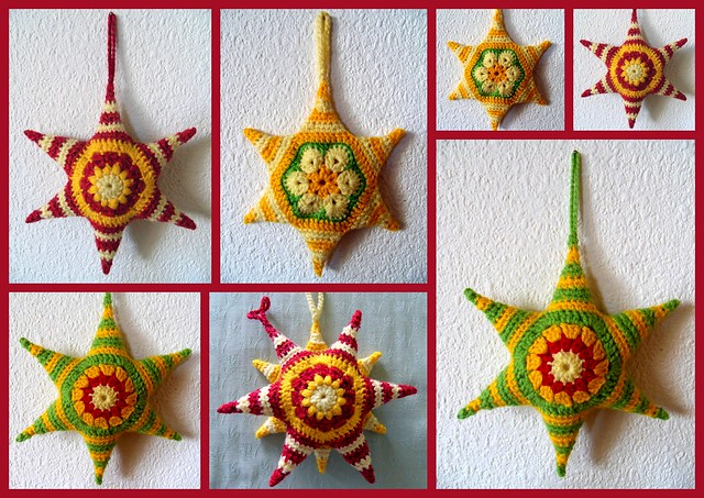 Free Crochet Star Ornament Pattern