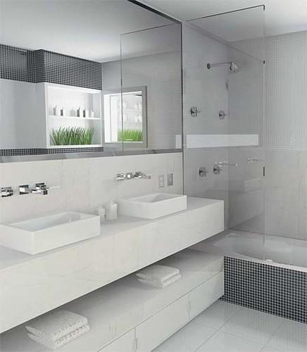 Banheiros decorados fotos e modelos for Azulejos economicos df