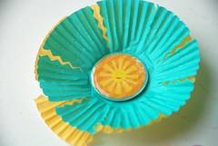 cupcake liner sun scrapbooking embellishment