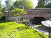 Lengthsman's cottage bridge with bikes June 2010 by golygfa