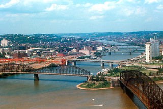 Pittsburgh - Three Rivers from Duquesne Heights (1968)