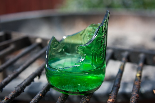 Broken Carlsberg Bottle