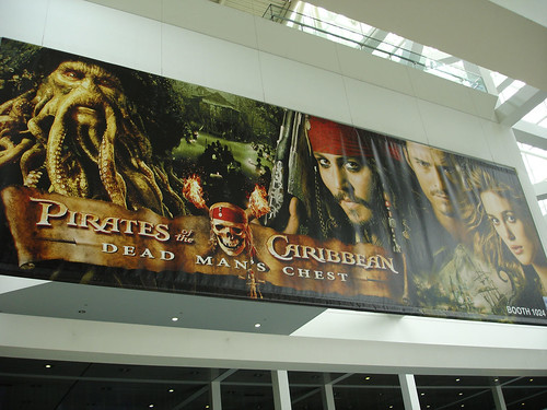 E3 2006 Pirates of teh Caribbean Dead Man's Chest movie banner