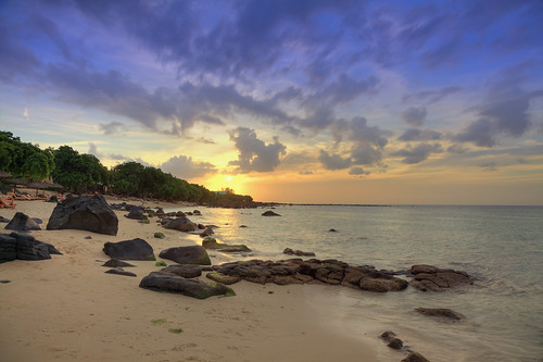 ocean sunset sea seascape beach sunrise dawn sand rocks dusk shore mauritius ilemaurice stuckinparadise