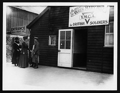 Her Majesty visiting a Y.M.C.A. hut