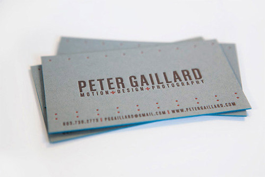 Peter-Gaillard's Grey Business Card