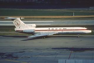 TAROM Tupolev 154B-2; YR-TPK@ZRH, March 1990/ DRO