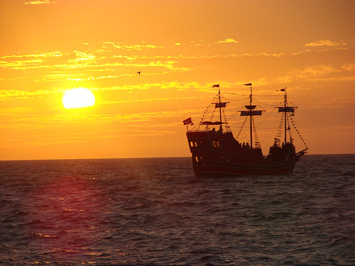 sunset beach ship sundown florida pirate captain clearwater memos allnaturesparadise