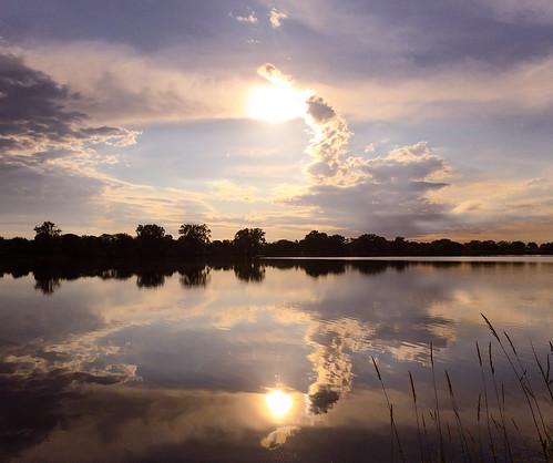 morning summer sky landscape minnesota sun nature water reflections outdoors clouds lake weather lakewinona winonaminnesota