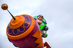 Buzz Lightyear in the Pixar Play Parade in DCA