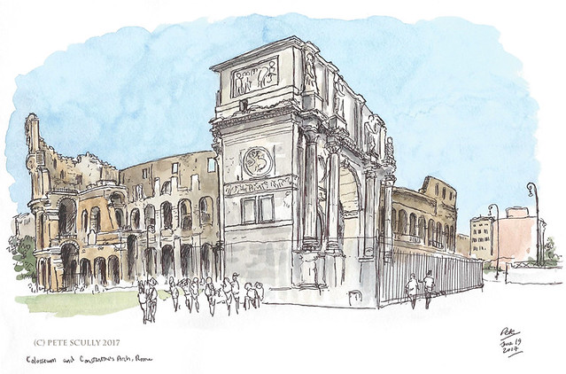 Colosseum and Arch of Constantine sm