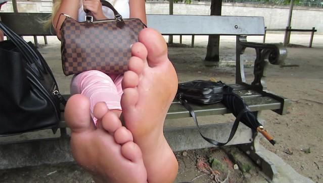 German tourist amazing feet size 9