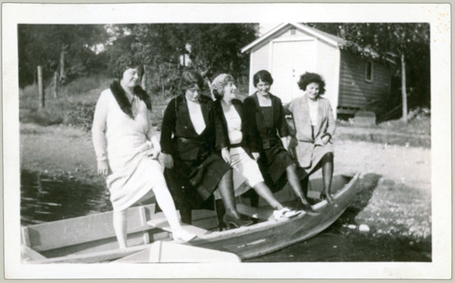 Five women in boat