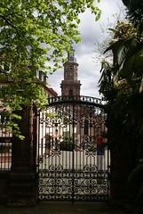 Worms, Dreifaltigkeitskirche, vom Heylshof-Garten gesehen (Holy Trinity Church, seen from the Heylshof garden)