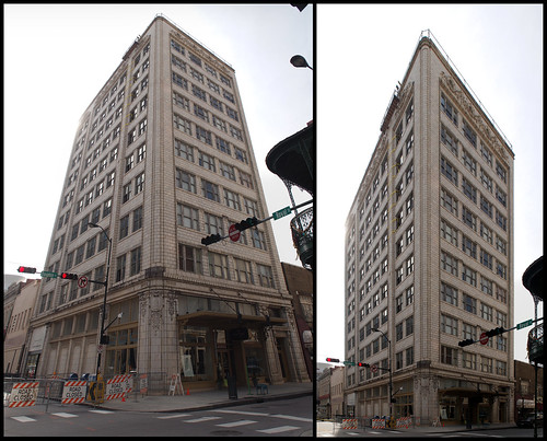 Two views of the Van Antwerp Building
