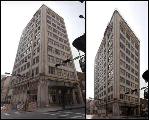 building brick mobile skyscraper concrete al downtown terracotta gimp highrise mardigras beauxarts royalst hugin 17mm vanantwerp olympusep1