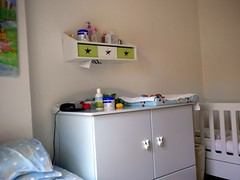 bed(0.0), shelf(1.0), furniture(1.0), changing table(1.0), room(1.0), interior design(1.0), nursery(1.0),