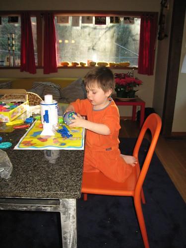 play doh, 3 year old, orange sweatshirt IMG_1871