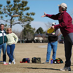 John Bird demonstrates his putt at the Skills Clinic, February 26th, at Expo Park.