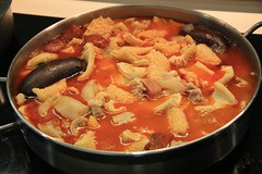 stew, jjigae, kimchi jjigae, hot pot, meat, food, dish, soup, cuisine, gumbo,