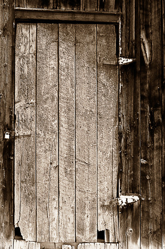 Old barn wood door bw flickr photo sharing for Where can i buy old barn wood