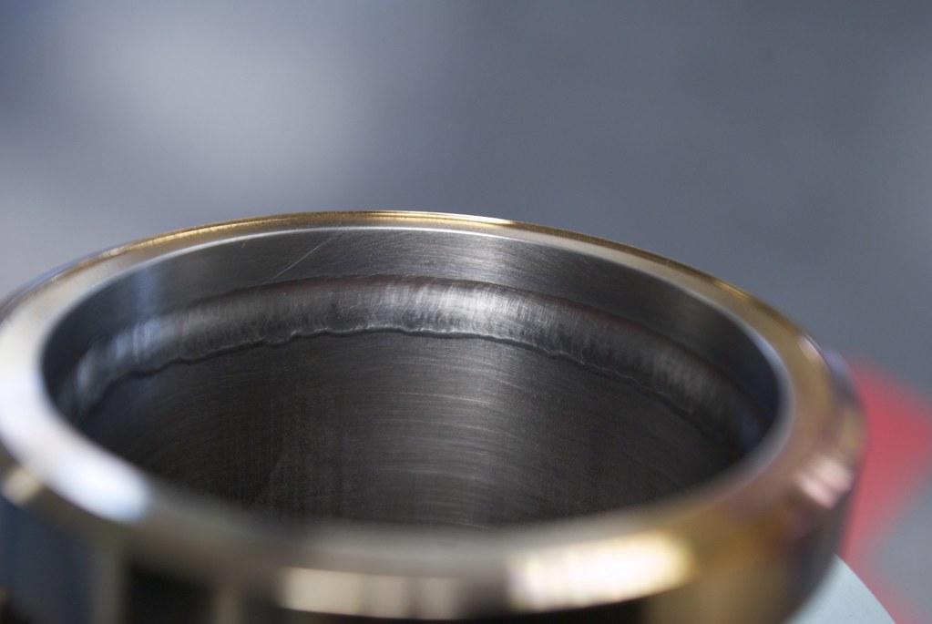 Tig welded vacuum flange   Single pass fusion weld   Flickr