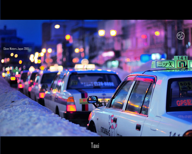 Hirosaki Taxi.   © Glenn Waters Japan 14,600 visits to this photo. Thank you!