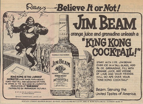 "1977 Jim Beam ""King Kong Coctail"" Ad (WTC Views)"