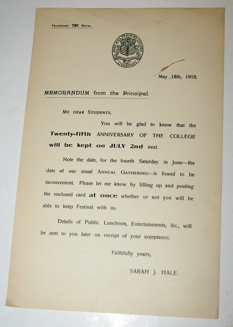 Memorandum from the Principal
