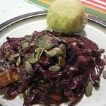 Rotkohl-Geschnetzeltes mit Roquefort