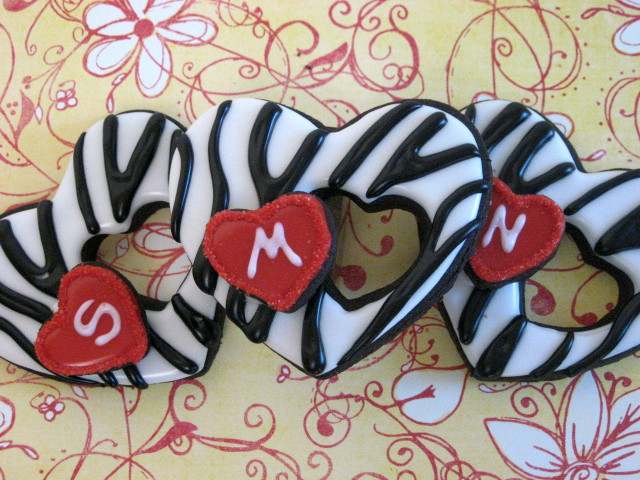 Zebra Valentine Hearts
