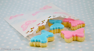 Mini butterfly cookies