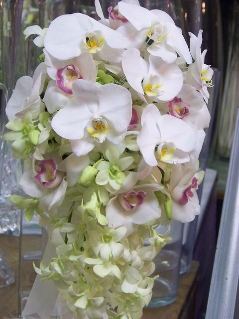 Wedding Flower Arrangements Orchid : Orchid wedding floral arrangements cascading orchids
