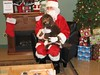 Chloe with Santa