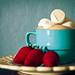 hot chocolate and fresh strawberries by Heidi Herrera