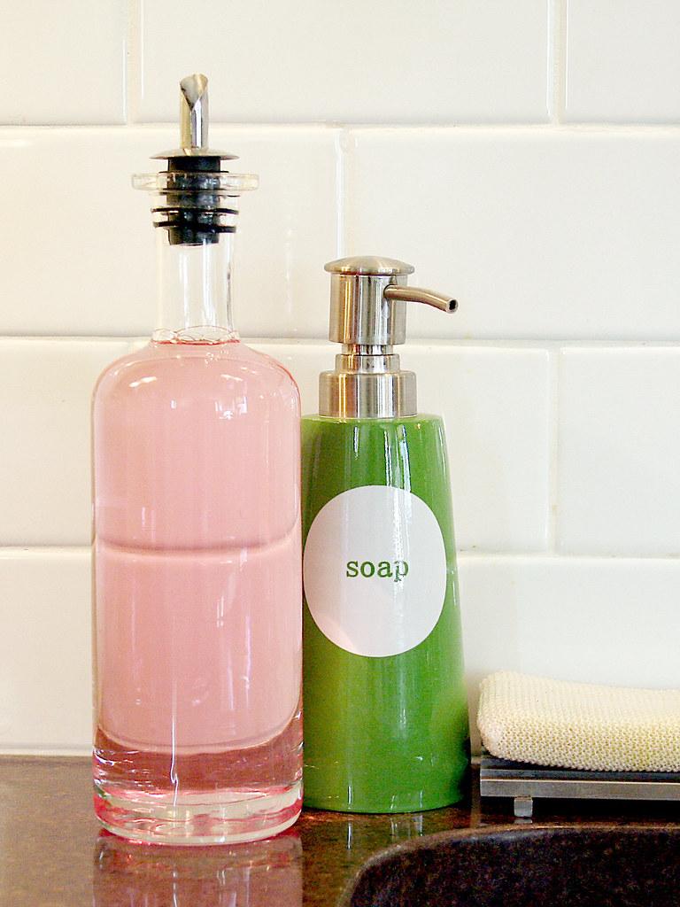 Dishwashing Liquid Dispenser ~ Cutest dish rack ever making it lovely