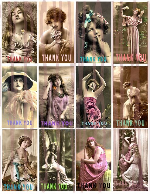1D1 2X3.5 THANK YOU cards