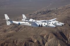 VSS Enterprise First Flight over Mojave, CA. Photo by Mark Greenberg
