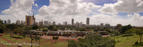 africa travel panorama skyline architecture buildings nikon downtown cityscape kenya nairobi towers wideangle panoramic adventure explore kellogg skycrapers locations stich d80 cityandculture