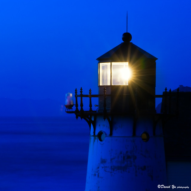 Point Montara light house twilight blue
