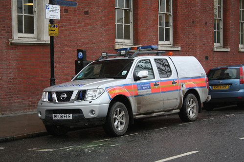 Metropolitan Police vehicle at Bow police station