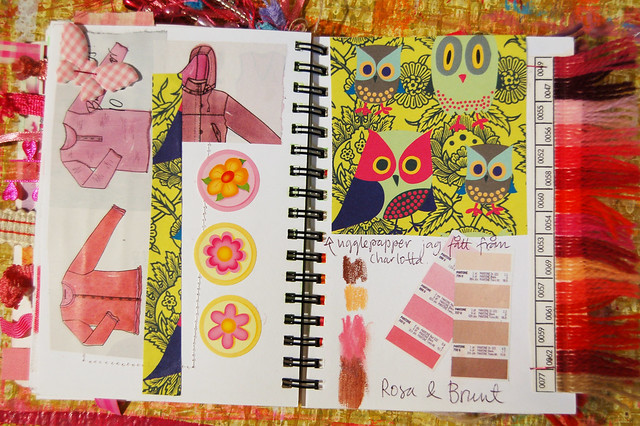 Pink Notebook: pink forms glued by iHanna