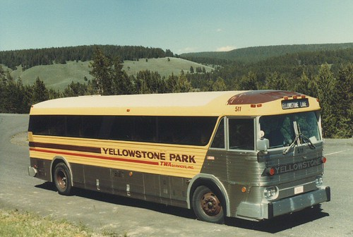 Yellowstone National Park Bus.  Wyoming  June  1984. by Eddie from Chicago