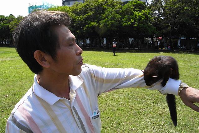 遇到可爱的小宠物飞鼠